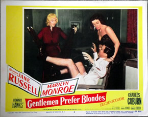 Marilyn Monroe in Gentlemen Prefer Blondes lobby card