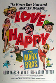 Marilyn Monroe in Love Happy - film poster