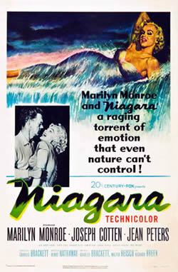 Marilyn Monroe in Niagara - film poster