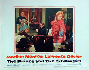 Marilyn Monroe in The Prince and the Showgirl lobby card